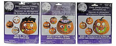 *HALLOWEEN Great For Kids PUMPKIN DECORATING KIT Party Decor NEW! *YOU CHOOSE*