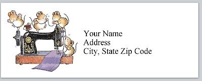Personalized Address Labels Sewing Machine Cute Mice Buy 3 Get 1 Free Bx 168
