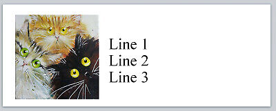 Personalized Address Labels Abstract Cats Buy 3 Get 1 Free P 787