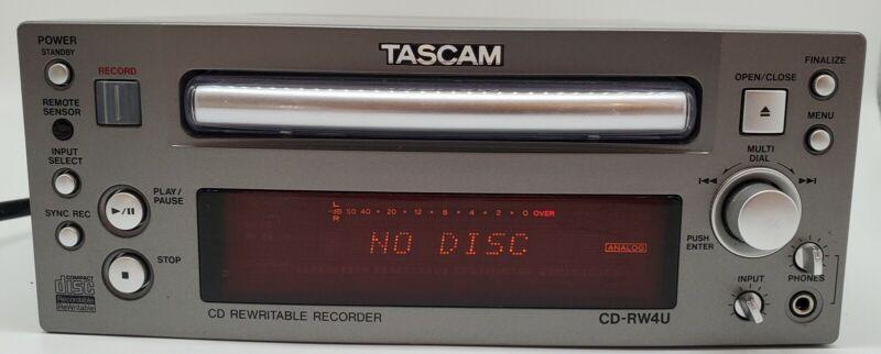 Tascam CD-RW4U Professional Standalone CD Recorder/Burner Tested Working Well