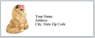 Personalized Address Labels Pretty Cat Buy 3 Get 1 Free Bx 198