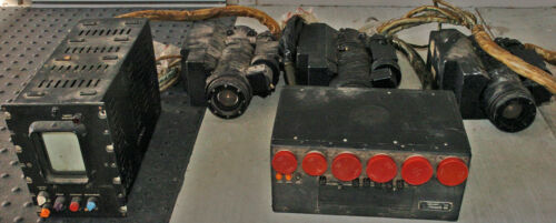 Tail Gunner TV Camera Components from a USAF B-52G AN/ASG-15 Fire Control Sys