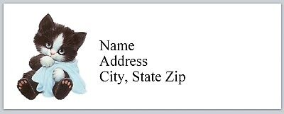 Personalized Address Labels Cute Little Cat Buy 3 Get 1 Free Bx 958