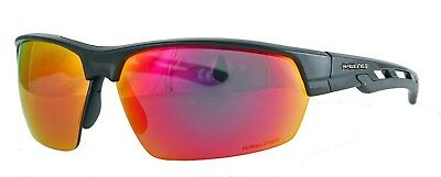 Rawlings Sunglasses 29 Black Frame Smoke Red RV Mirror (Red Mirror Sunglasses)