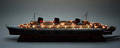 """SS Normandie Ocean Liner Ship Model 48"""" with lights - Handcrafted Ship Model"""