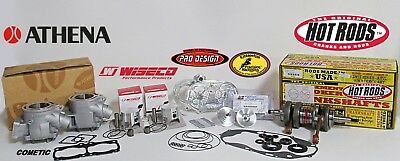 Yamaha RZ350 RZ 350 Athena 68mm Big Bore 421 Stroker Crank Pistons Pro Head Dome