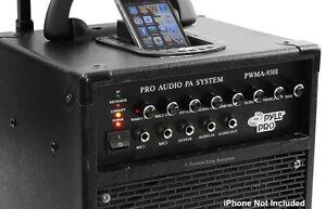 New - PYLEPRO 600 Watt VHF WIRLESS PORTABLE PA SYSTEM London Ontario image 3