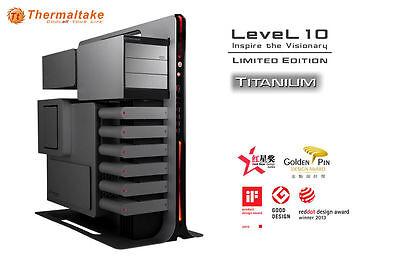 Thermaltake Level 10 Titanium Edition Aluminum Black / Titanium ATX Full Tower