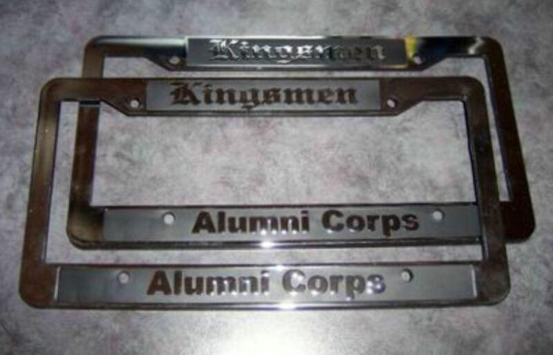 Kingsmen Alumni Corps Liscence Plate Frame