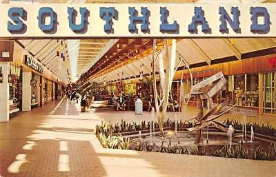 Memphis Tennessee fountain inside Southland Mall vintage pc (Memphis Mall)