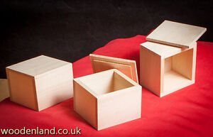 UNPAINTED NEW WOODEN SMALL BOX JEWELLERY REMOVEABLE LID / ART CRAFT DECOUPAGE