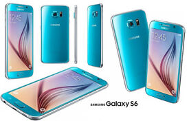Samsung Galaxy S6 Mobile Phone - Blue Topaz - Boxed