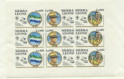 Sierra Leone 1995 Scouts Scott 1809 var Imperf Mini Sheet
