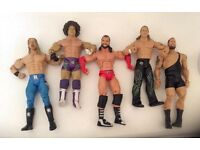 5 X WWE wrestling figures toys