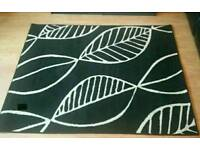 Black and white very good condition rug