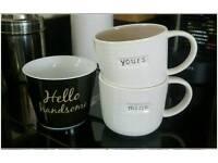 3x Mugs/cups