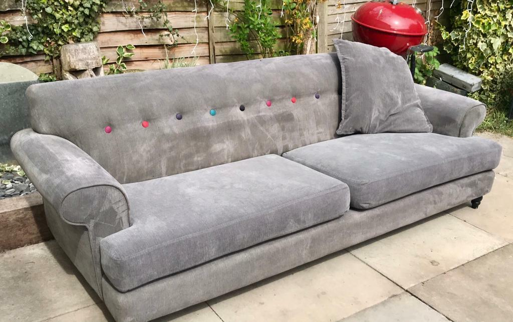 Outstanding Dfs Grey Orbit Sofas With Rainbow Buttons 3 And 2 Seater Suite In Cambridge Cambridgeshire Gumtree Andrewgaddart Wooden Chair Designs For Living Room Andrewgaddartcom