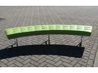 Designer Bespoke Lime Green Real Leather BENCH, in Fantastic Condition!!