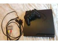 PS3 Console, both Leads, one Controller and 8 Games