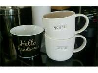 3x Mugs/cups from Next.