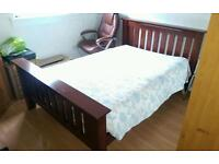 Double bed with free mattress !