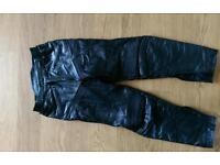 Leather bike / motorcycle trousers size 36