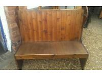 Stunning 5ft church pew/monks bench in good condition