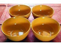 Vintage C& E Longton Set of 4 Orange Cereal/Dessert Bowls
