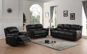 CANADA RECLINERS | BLACK LEATHER RECLINER (GL2306)
