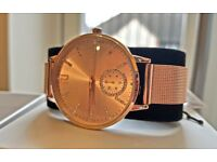 NEW River Island Rose Gold Tone Mesh Strap Watch Limited Edition !