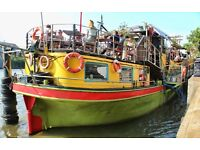 Bar- Events, administration & supervisor for 2 quirky boats nr Vauxhall