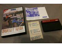 Sega Master System Buggy Run - very rare video game