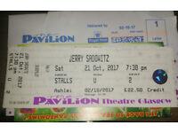 Jerry Sadowitz 1 x Ticket, Stalls, Glasgow Pavilion Theatre, Sat 21st October 2017, 7.30pm