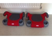 2 x Little Tikes backless booster seats with cup holders