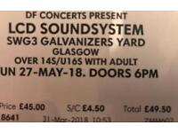 LCD SOUNDSYSTEM TICKET (27th May)
