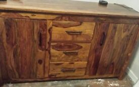 "Sideboard ""solid wood"" £180.00 ONO was bought 3 months ago brand new."