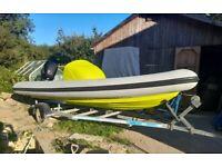 Phantom 550 rib boat