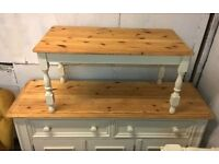 Solid Pine Coffee Table ~ Cream Chalk Shabby Chic Charm
