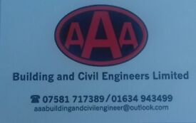 AAA Building and civil engineers ltd - Dumper, 360 ops, ground Workers Needed