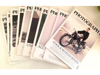 Eleven copies of The British Journal of Photography 2013 magazine back issues