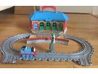 Thomas the tank engine take along tidmouth sheds playset, perfect