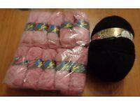 10 x 50g balls D/K yarn & large mile long 350 gram 10% Mohair yarn