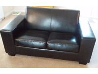 Faux Leather small 2 Seater Sofa