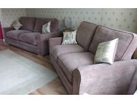 4 SEATER AND 3 SEATER SOFAS ONLY 8 MONTHS OLD FROM TAPPERS AND STURTONS