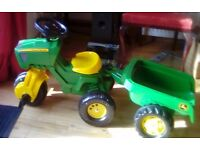 John Deere tractor and trailer brand new toy