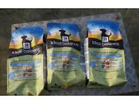 Hills science diet puppy food 3 bags at 2kg