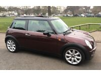 AUTOMATIC MINI COOPER VERY LOW MILEAGE VERY RARE COLOUR NEARLY EVERY POSSIBLE EXTRA AUTO MINI COOPER