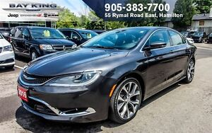 "2016 Chrysler 200 C, PANO SUNROOF, 8.4"" DISPLAY, BACK-UP CAM, RE"