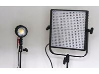 Video Lighting kit - Litepanels 1x1 Daylight Spot & Sola ENG Daylight Fresnel