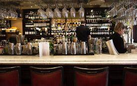 Bartender needed La Brasserie London SW32AW French restaurant and bar